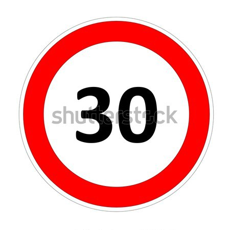 30 speed limit sign Stock photo © Elenarts
