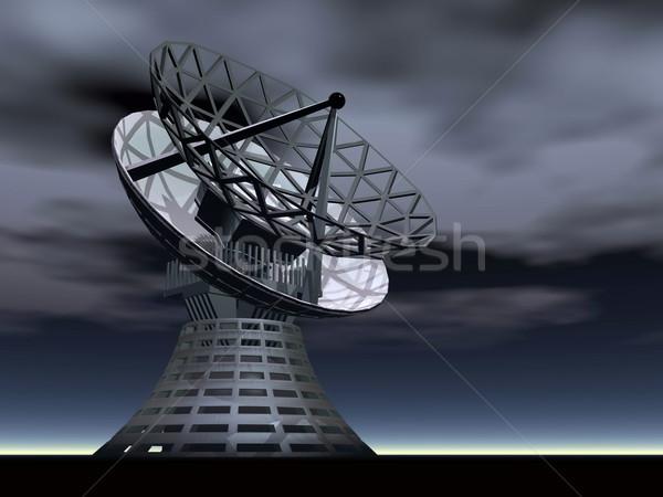 Anten 3d render karanlık bulutlu gece Stok fotoğraf © Elenarts