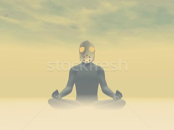 Toxicity meditation - 3D render Stock photo © Elenarts