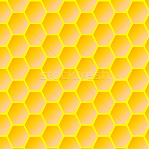 Honingraat oranje Geel ontwerp kleur behang Stockfoto © Elenarts
