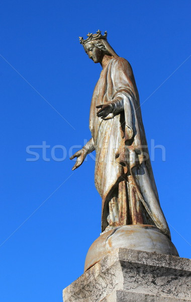 Notre Dame de Suize virgin statue, Grand-Bornand, France Stock photo © Elenarts
