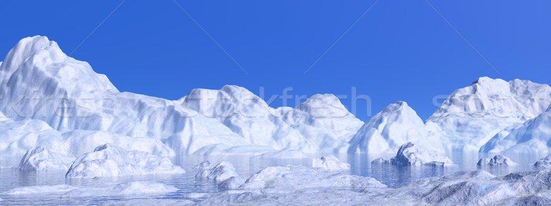 Rendering 3d panorama natura bianco acqua Foto d'archivio © Elenarts