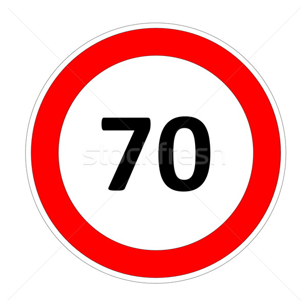 70 speed limit sign Stock photo © Elenarts