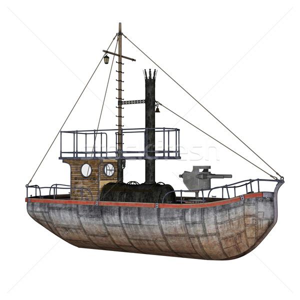 Patrol boat - 3D render Stock photo © Elenarts