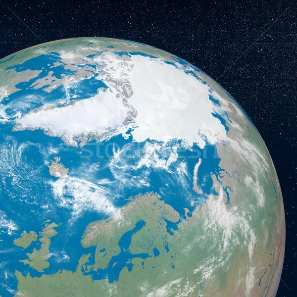 Арктика 3d визуализации земле планеты континент Сток-фото © Elenarts