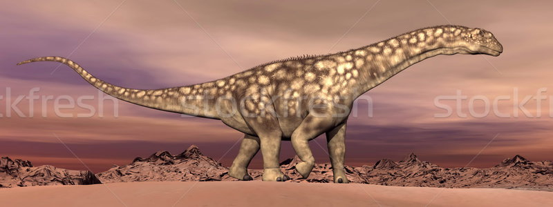 Argentinosaurus dinosaur walking - 3D render Stock photo © Elenarts