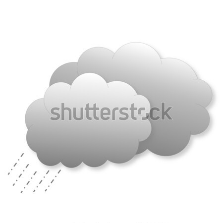Clouds with rain as weather icon Stock photo © Elenarts