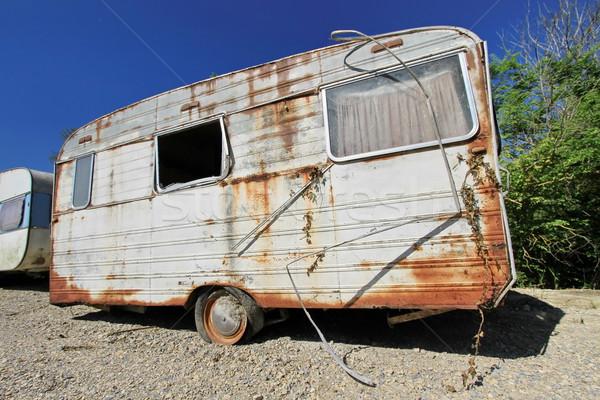 Old abandoned caravan Stock photo © Elenarts