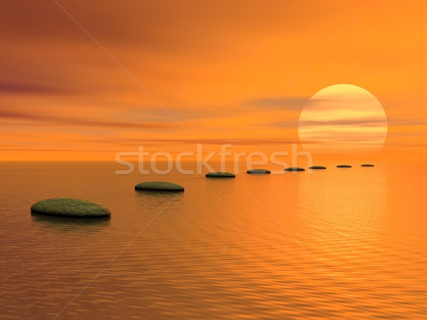 Stock photo: Steps to the sun