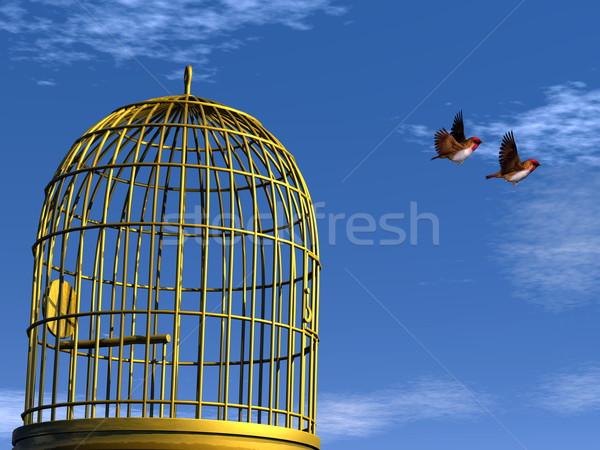 Freedom - 3D render Stock photo © Elenarts