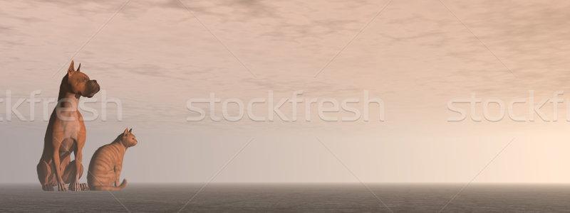 Friendship - 3D render Stock photo © Elenarts