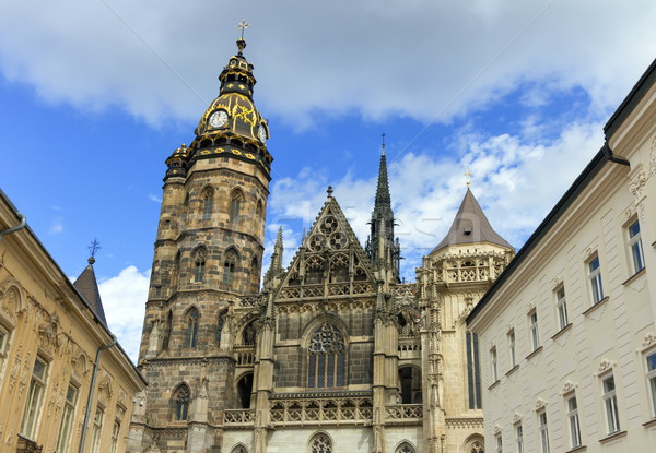 Cathédrale Slovaquie jour ville rue architecture Photo stock © Elenarts