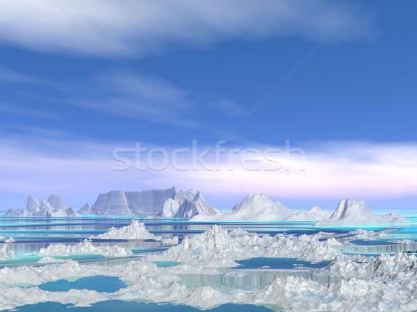 Manzara doğa beyaz küçük su Stok fotoğraf © Elenarts