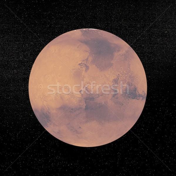 Mars planet - 3D render Stock photo © Elenarts