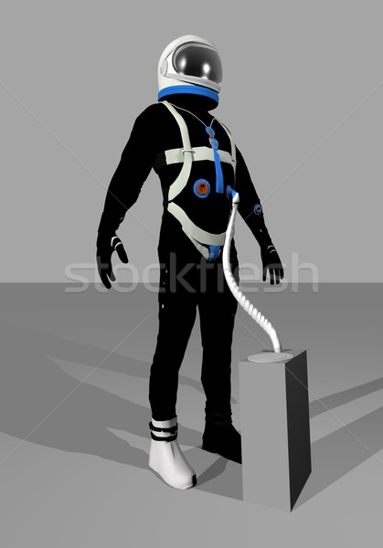 Gemini space suit - 3D render Stock photo © Elenarts