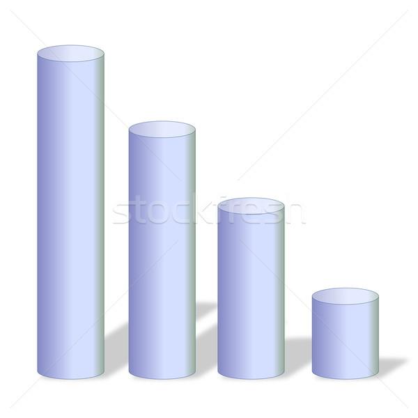 Grijs grafiek vier groot klein witte Stockfoto © Elenarts