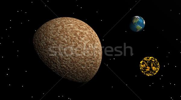 луна земле туманность большой коричневый небольшой Сток-фото © Elenarts
