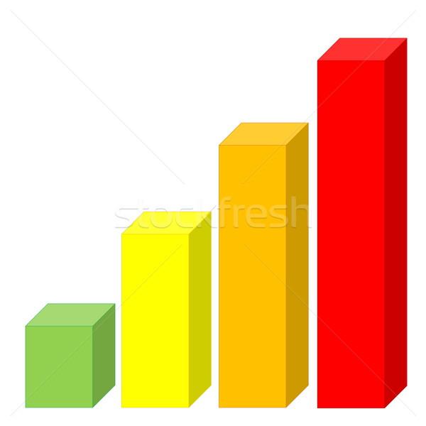 Increasing statistics Stock photo © Elenarts
