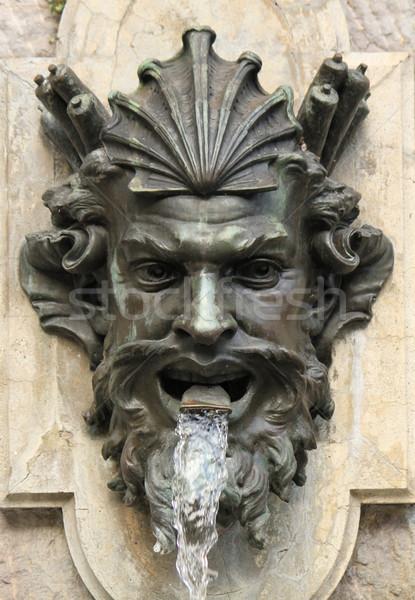 Human head fountain, Geneva, Switzerland Stock photo © Elenarts