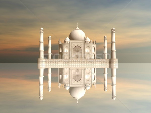 Taj Mahal mausoleum, Agra, India - 3D render Stock photo © Elenarts