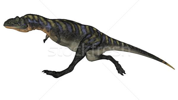 Aucasaurus dinosaur running - 3D render Stock photo © Elenarts