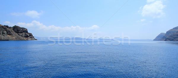 Mar santorini Grécia panorâmico ver Foto stock © Elenarts