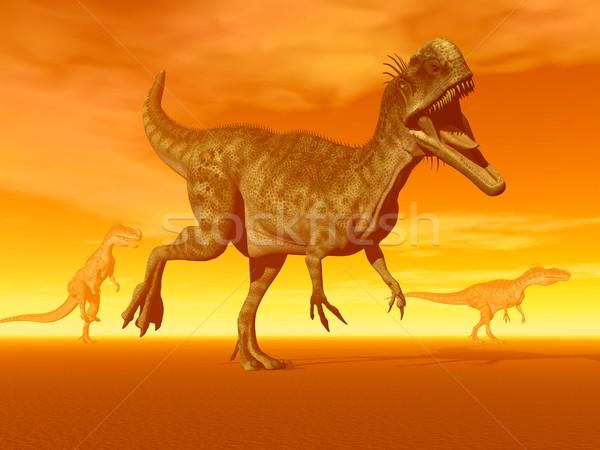 Monolophosaurus dinosaurs- 3D Render Stock photo © Elenarts