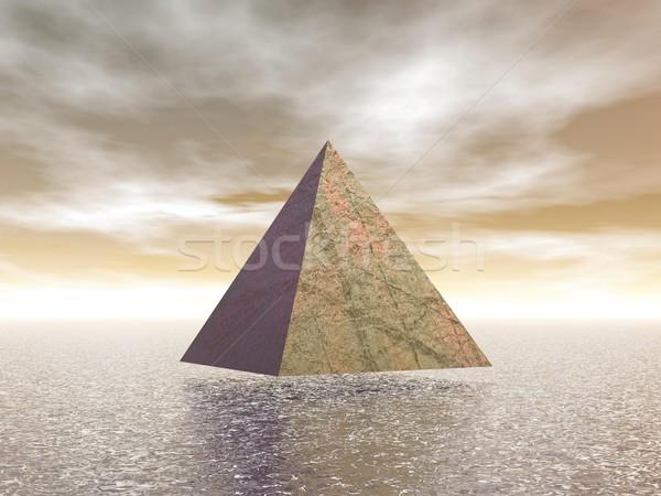 Mystical pyramid - 3D render Stock photo © Elenarts