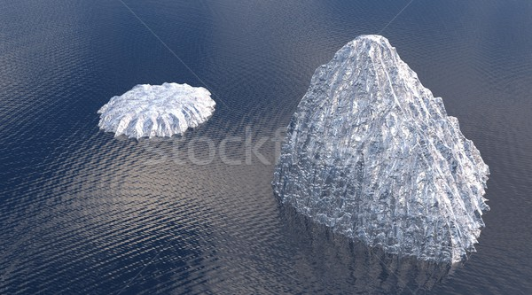 два океана снега фон горные Сток-фото © Elenarts