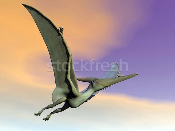 Pteranodon dinosaur flying - 3D render Stock photo © Elenarts