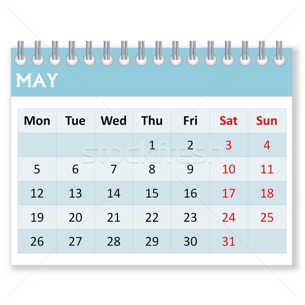 Calendar sheet for may Stock photo © Elenarts