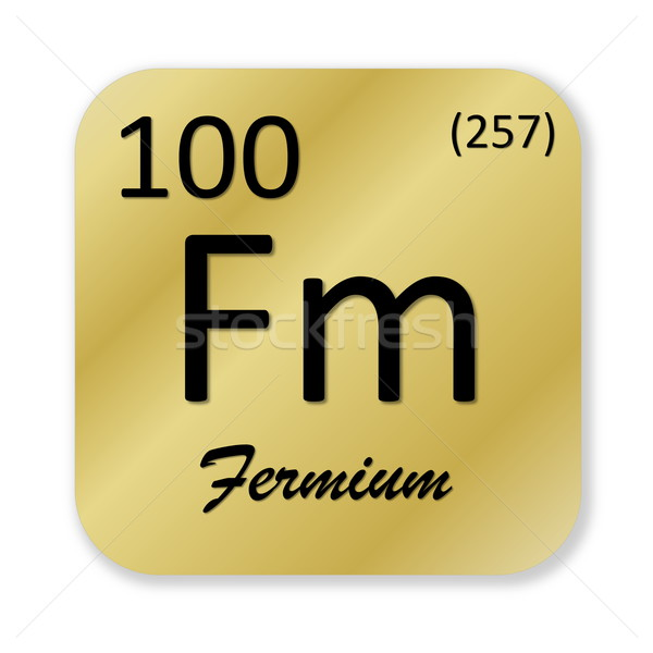 Fermium element Stock photo © Elenarts