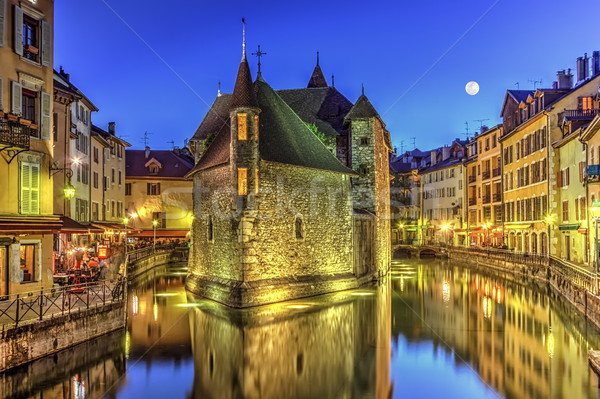 刑務所 運河 古い 市 フランス hdr ストックフォト © Elenarts