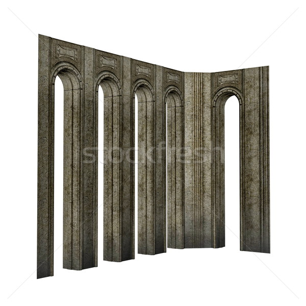 Arch pillars - 3D render Stock photo © Elenarts