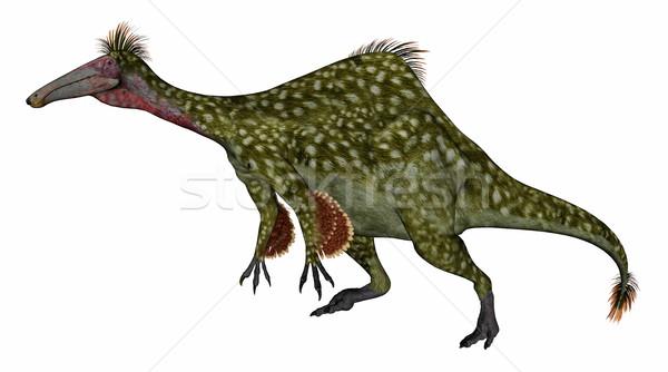 динозавр 3d визуализации ходьбе изолированный белый природы Сток-фото © Elenarts