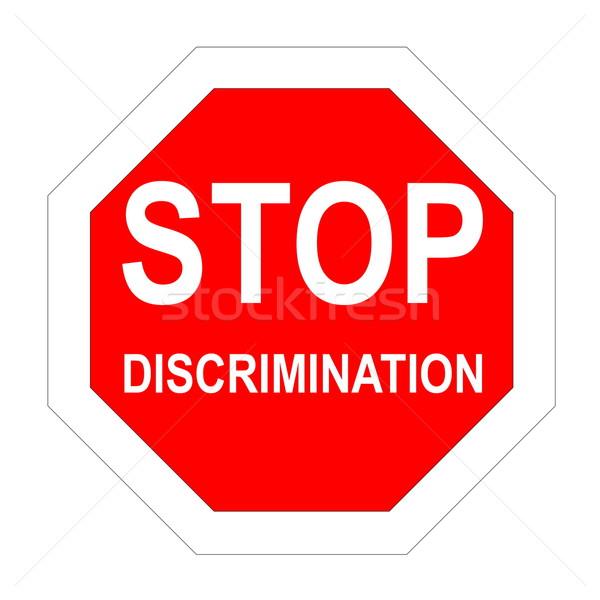 Stop discrimination Stock photo © Elenarts