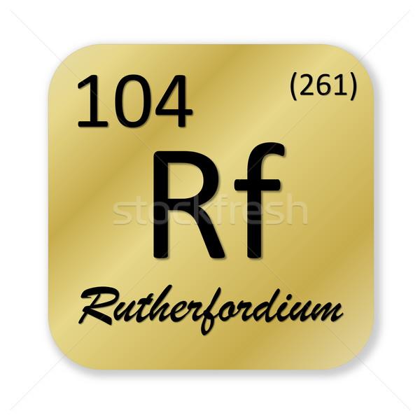 Rutherfordium element Stock photo © Elenarts