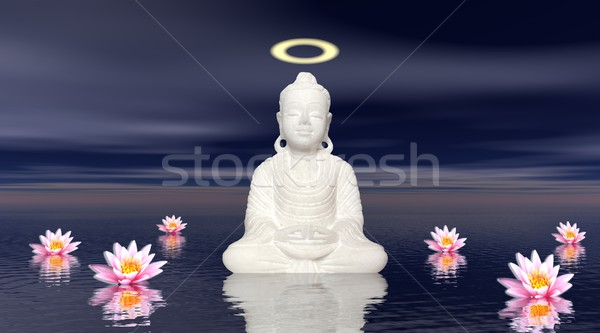 Meditation by night Stock photo © Elenarts