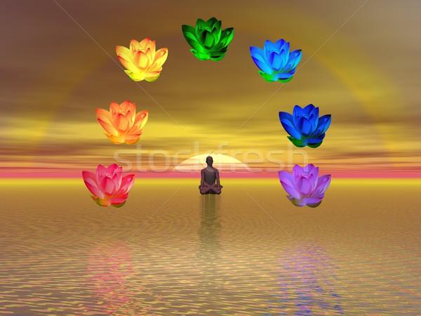 Meditation and chakras Stock photo © Elenarts