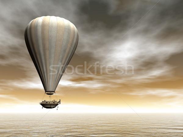 Hot air baloon - 3D render Stock photo © Elenarts
