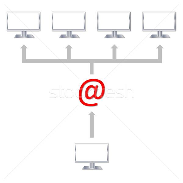 Sending an email Stock photo © Elenarts