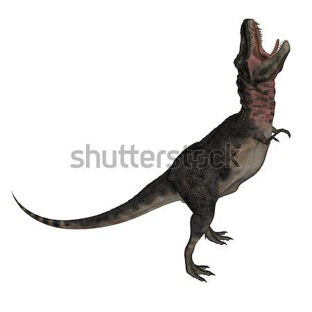 Dinozor 3d render yukarı yalıtılmış beyaz tarih Stok fotoğraf © Elenarts