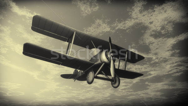 Battant ciel vintage style rendu 3d Photo stock © Elenarts