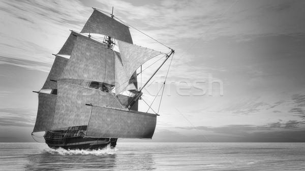 Starych szczegółowy statku zwycięstwo vintage stylu Zdjęcia stock © Elenarts