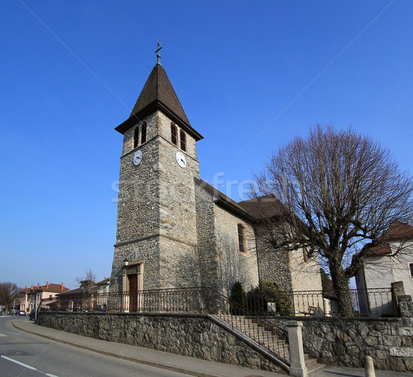 Veigy-Foncenex parish, France Stock photo © Elenarts
