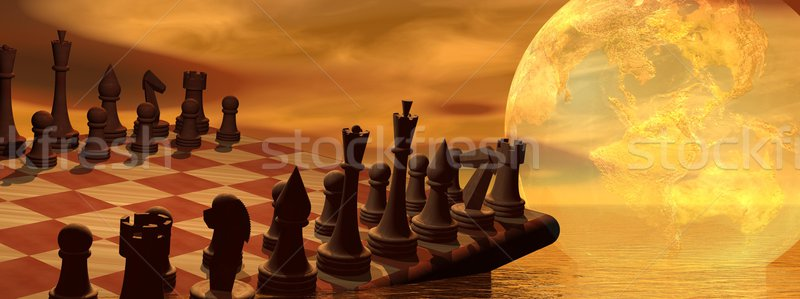 Global business strategy chess Stock photo © Elenarts
