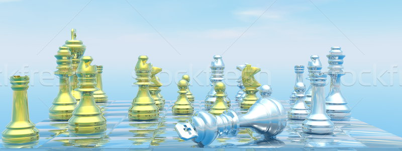 Checkmate - 3D render Stock photo © Elenarts