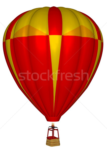 Luchtballon 3d render Rood geïsoleerd witte hemel Stockfoto © Elenarts