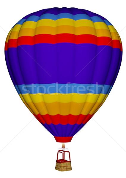 воздушном шаре 3d визуализации красочный изолированный белый небе Сток-фото © Elenarts