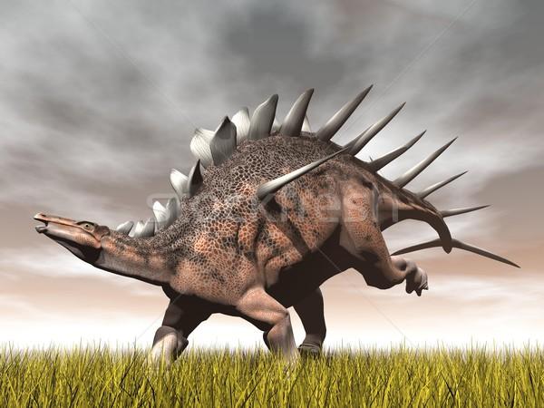 Kentrosaurus dinosaur - 3D render Stock photo © Elenarts